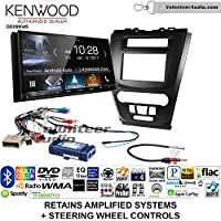 Volunteer Audio Kenwood DDX9904S Double Din Radio Install Kit with Apple CarPlay Android Auto Bluetooth Fits 2010-2012 Fusion (Black) (Retains steering wheel controls)