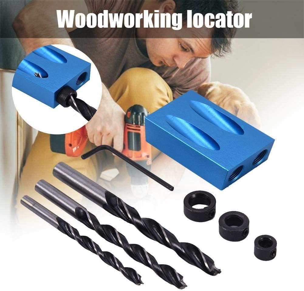 equival briskay Pocket Hole Tornillo Jig Dowel Drill Kit de carpinter/ía Carpinteros de Madera Gu/ías de carpinter/ía Herramienta de /ángulo articulado Carpinter/ía Localizador Craft Pack de companionable