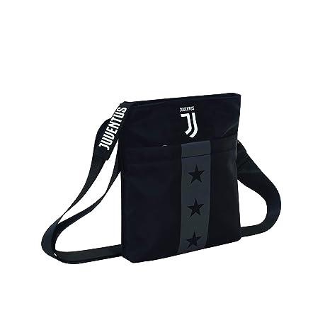 nuovi stili b61cb caade Tracolla Juventus Mini Shoulder Bag, Nero, Flash Effect, Scuola Sport &  Tempo libero