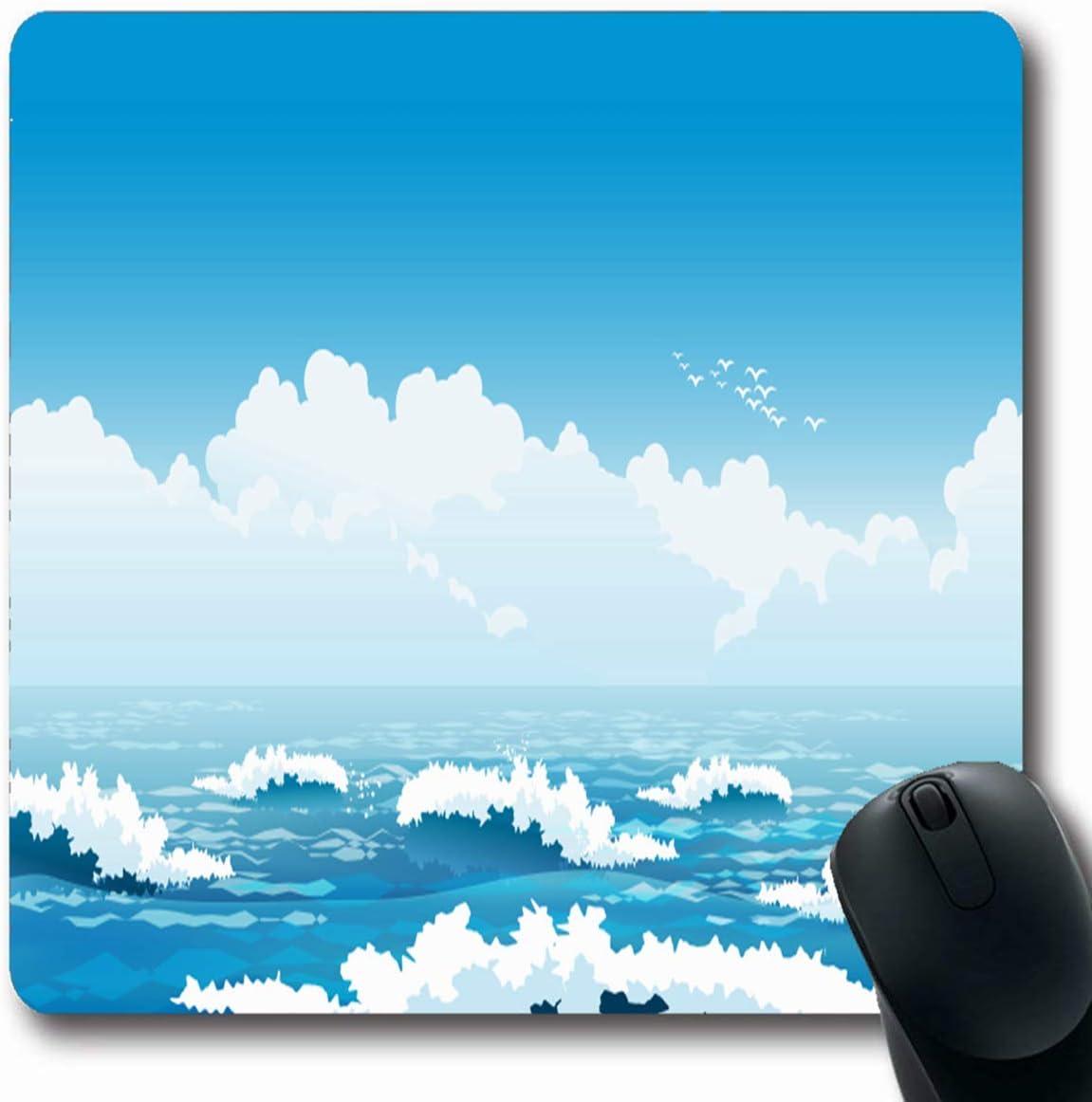 Luancrop Alfombrillas Azul Mar Que Pintorescas Olas oceánicas ...