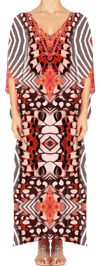 Women's Turkish Kaftan Beachwear Swimwear Bikini Cover ups Beach Dresses DG34-1 by D G PRINTS FAB