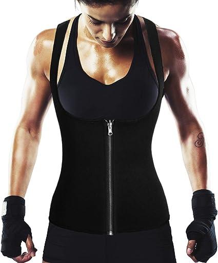 Women Weight Loss Waist Trainer Vest Sauna Sweat Body Shaper Tank Slim Trimmer