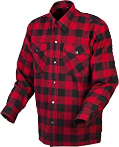 Scorpion Covert Flannel Reinforced/Kevlar Lined Protective Shirt (Red/Black, Small)