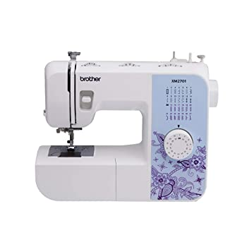 Brother XM2701 white lightweight sewing machine