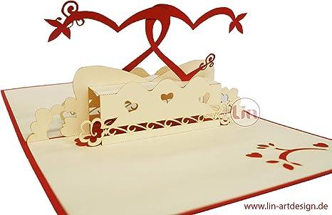 LIN17301, tarjeta de amor pop up, tarjeta de felicitación en ...