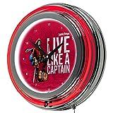 Trademark Gameroom Captain Morgan Chrome Double Rung Neon Clock