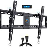 JUSTSTONE Tilting TV Wall Mount Bracket Low Profile for Most 40-90 Inch Flat&Curved Screen TVs, Universal Tilt TV Wall Mount