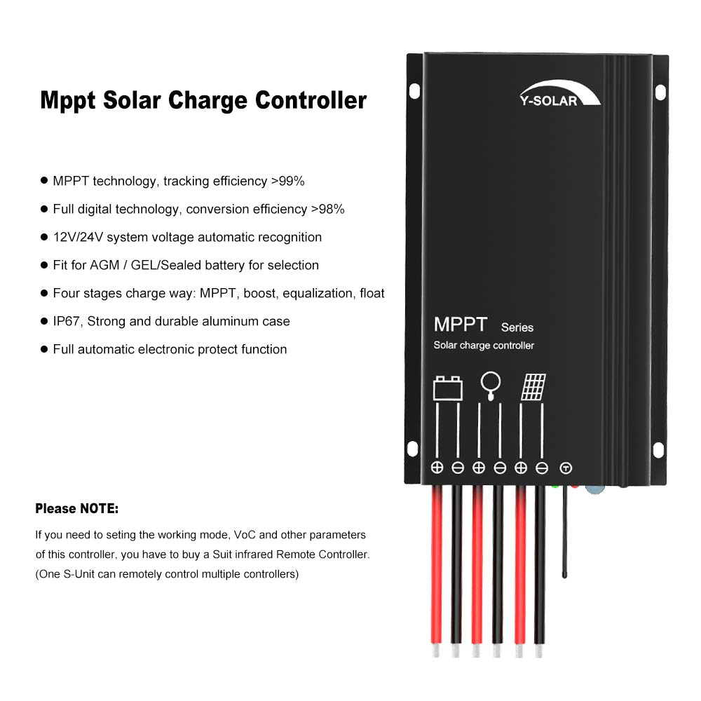 Mppt Charge Controller 15a Y Solar Panel Charger Circuit Ip67 Waterproof Regulator 12v 24v Auto For Agm Gel Sealed Batteries And