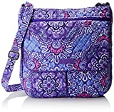 Vera Bradley Women's Double Zip Mailbag, Lilac Tapestry