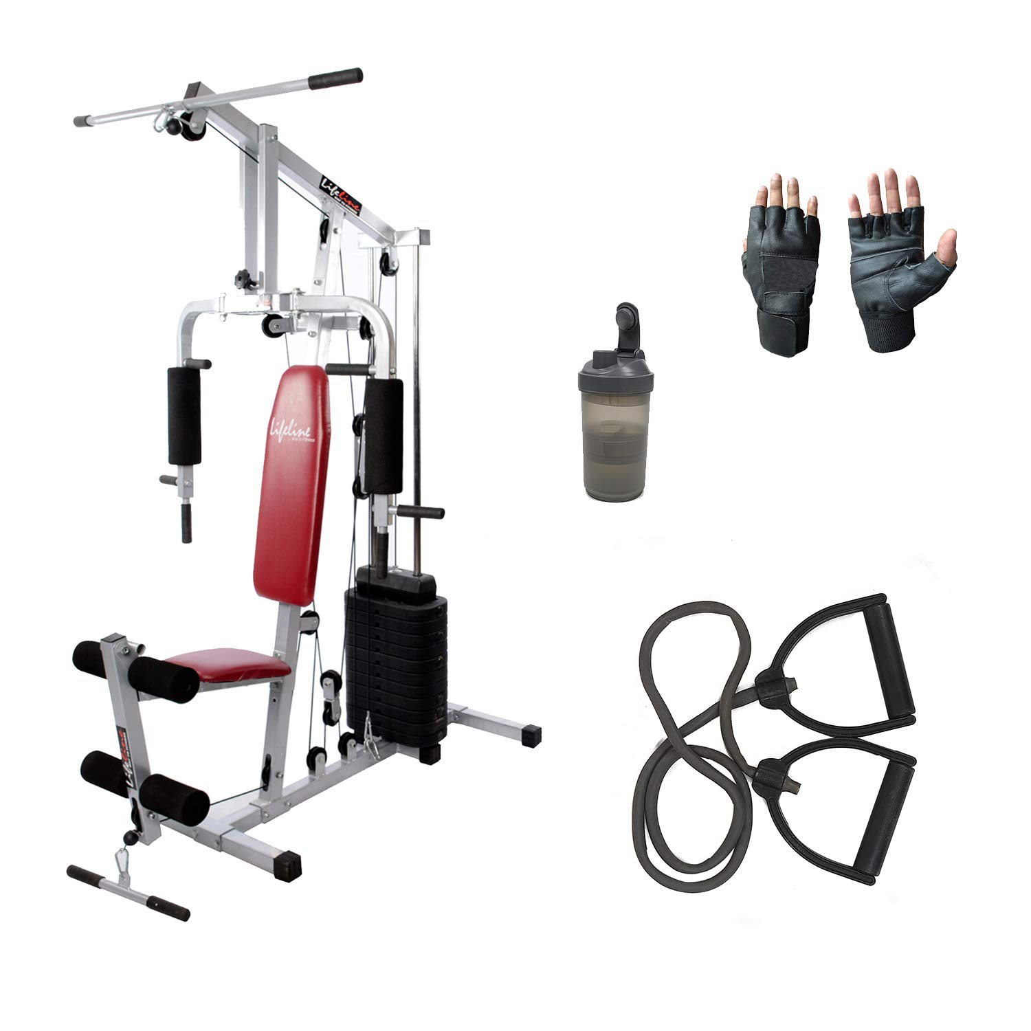 Lifeline home gym equipment all in 1 3 accessories bundles with