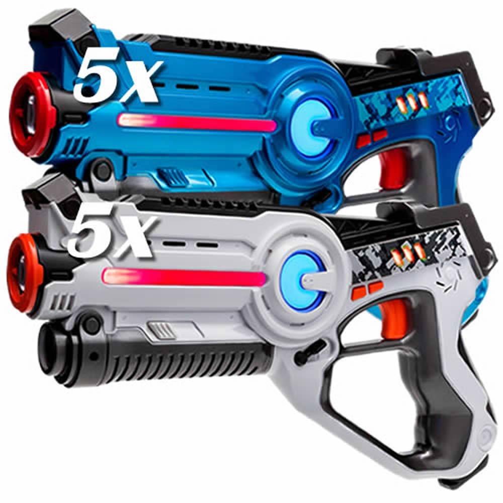 Laser Tag Set - 10x Light Battle Active lasergame spielzeug LaserPistole - 5x Weiß, 5x Blau - LBAP11034