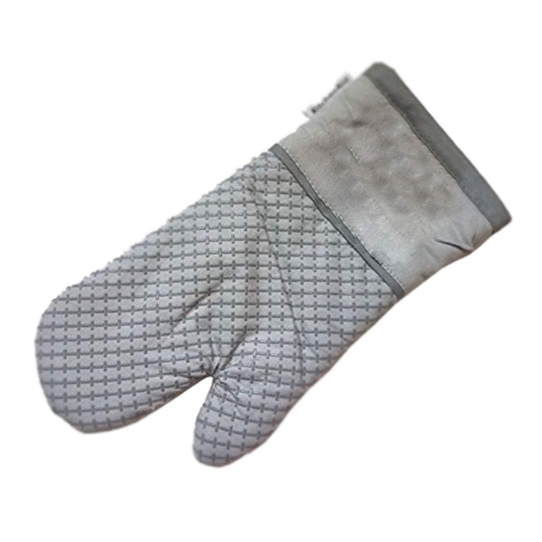 Grey Kitchenaid Cotton Oven Mitt with Textured Silicone Print Grips