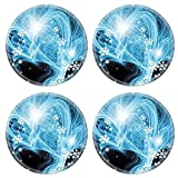 MSD Round Coasters Non-Slip Natural Rubber Desk Coasters design 11049107 Blue christmas abstract background for various design artworks cards