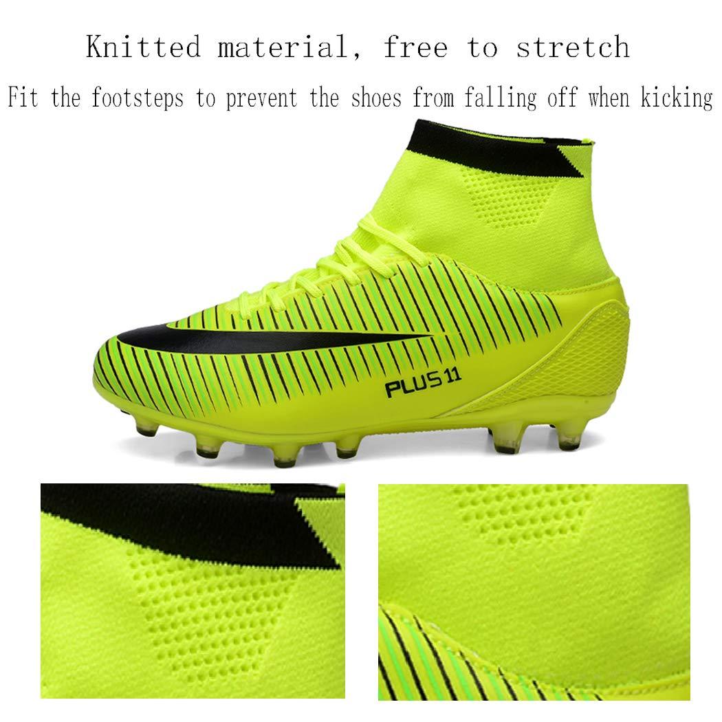Brfash Botas de F/útbol Spike Profesionales Hombre Adulto Training High-Top Zapatos de F/útbol