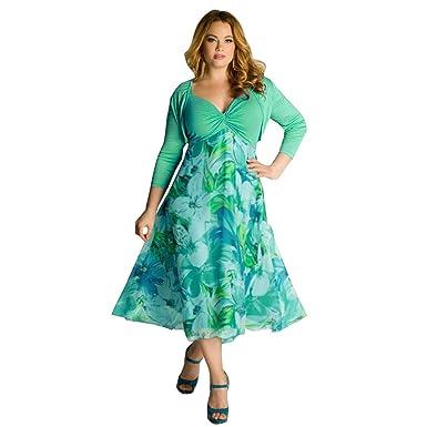 2358f17c254 COOKI Women Foral Print Boho Maxi Dress Plus Size Evening Party Night Summer  Beach Long Mini Dresses at Amazon Women s Clothing store
