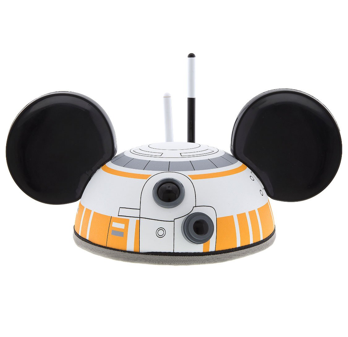 Disney Parks Star Wars BB 8 Mickey Mouse Ears Hat Cap NEW Adult Size