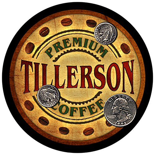 Tillerson Family Coffee Rubber Drink Coasters - Set of 4