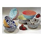 Niob Set Of 6 Mix &Match All Purpose Porcelain Bowls