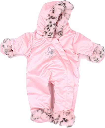 "American Girl BITTY BABY LITTLE SNOW LEOPARD SNOWSUIT for 15/"" Dolls PINK NEW!"