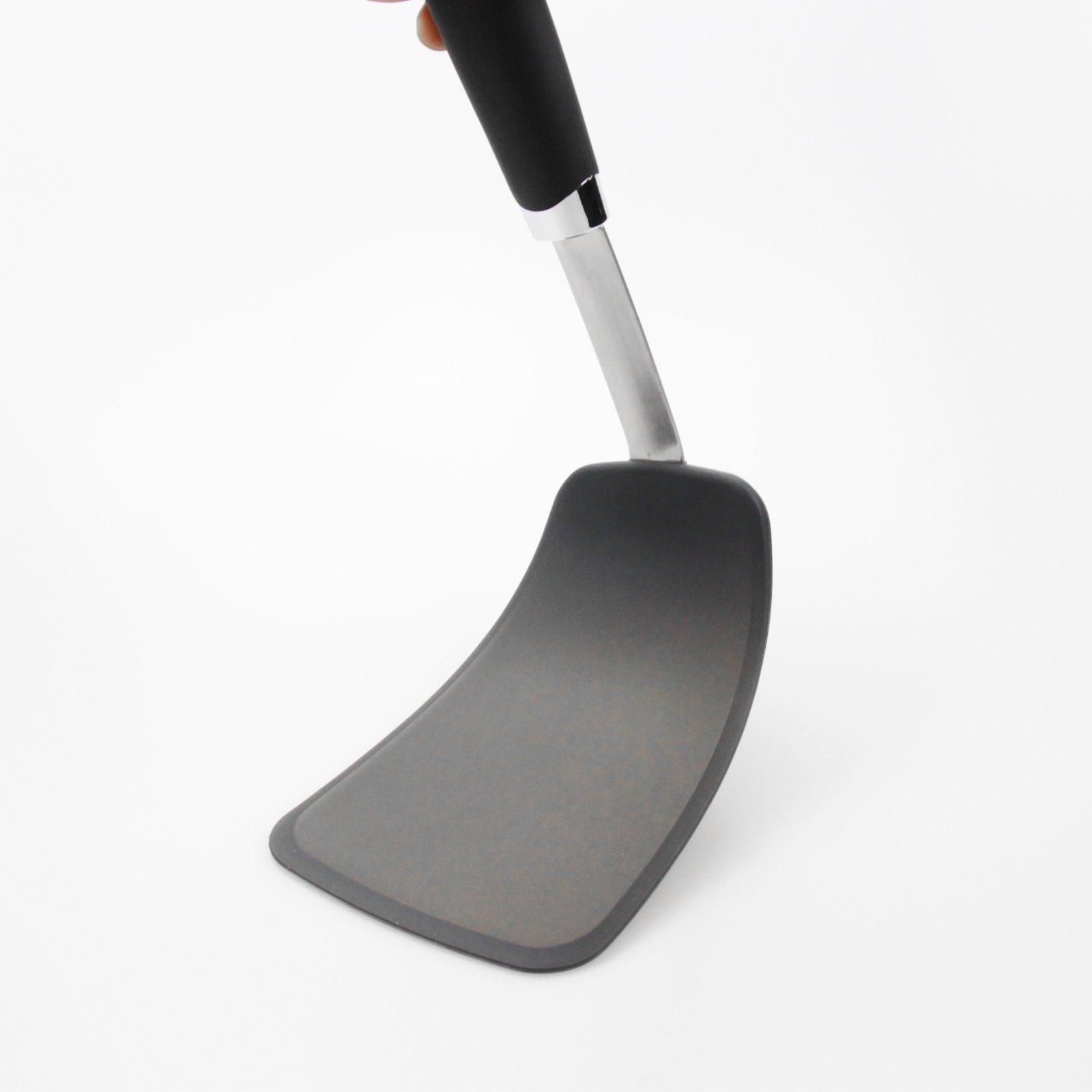 Hygienic Solid Heat-Resistant Flexible Silicone Spatula, Black Non-stick Silicone Turner by ALLWIN-HOUSEWARE W (Image #2)