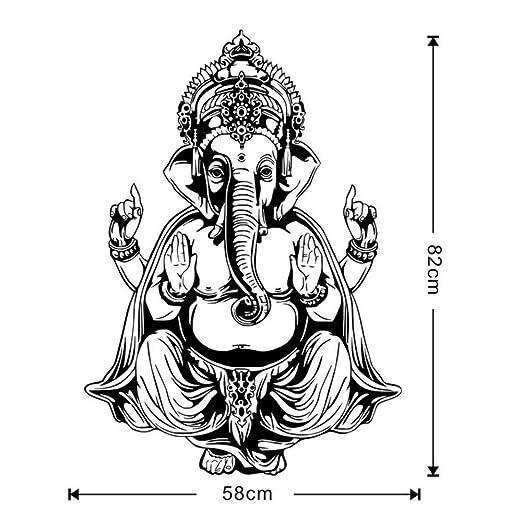 Wallpaper Ganesha Elefante Buda Mandala Yoga Pegatinas de ...