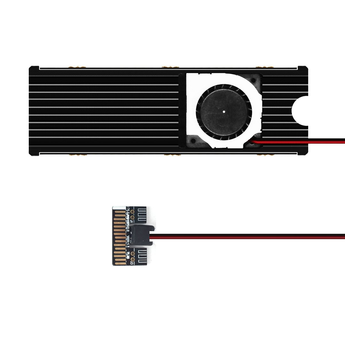 GLOTRENDS NVMe M.2 SSD Positive Cooler Heatsinks 20mm Fan (PA09-Heatsink)