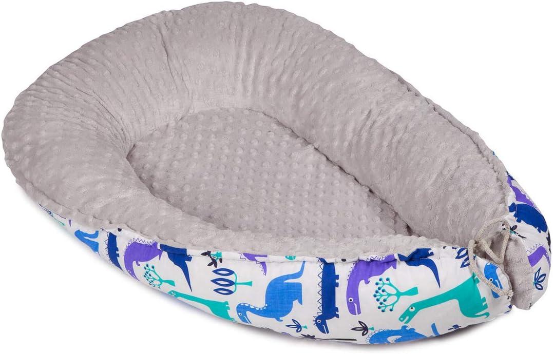 Multifuncional Nido para Beb/é 2 caras Cuna de viaje Reductor de Cama Baby Nest reversible Cocoon Corralito Reci/én Coraz/ón 100