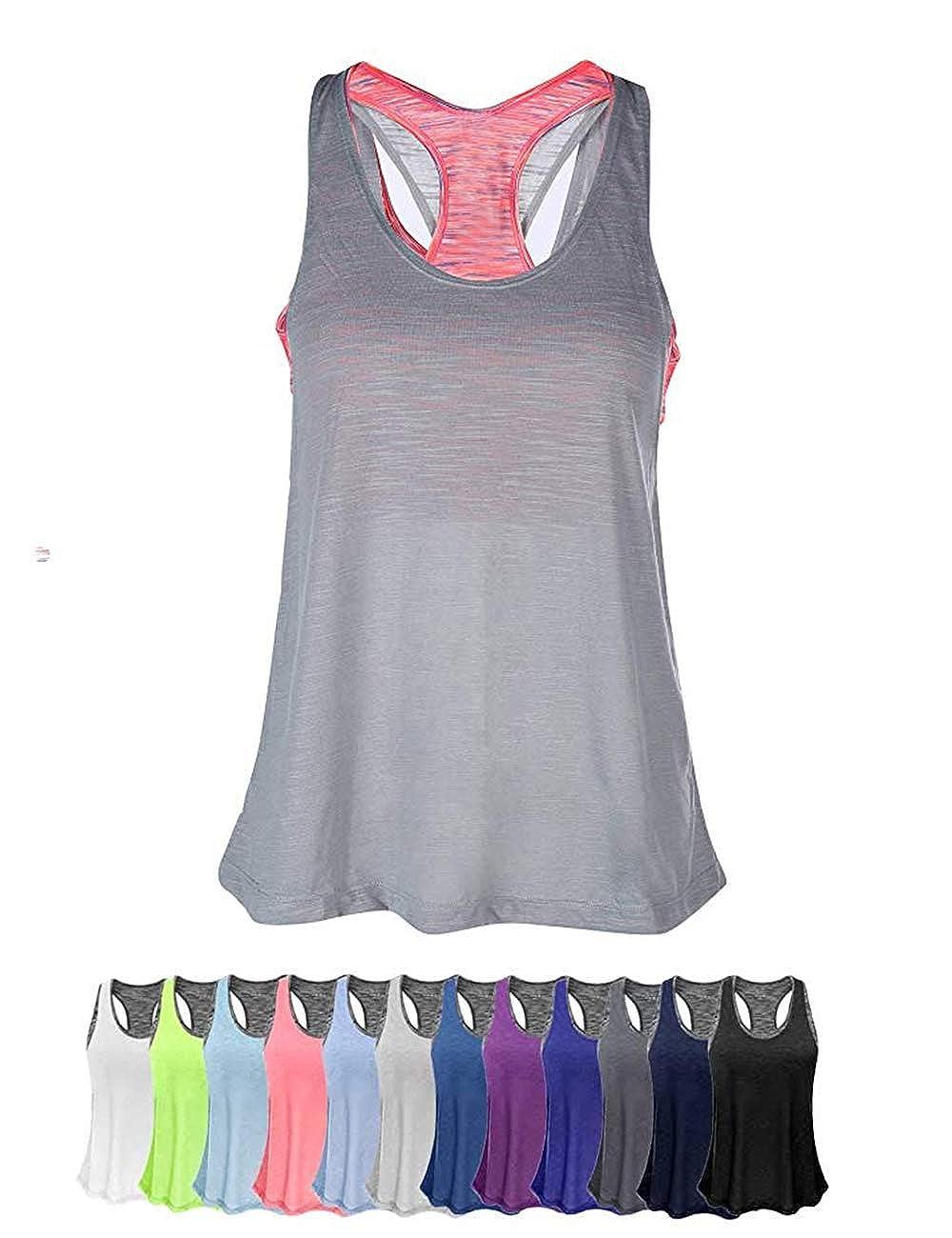 INSTINNCT Damen Tank Tops Casual /Ärmellos R/ückenfrei Shirts f/ür Yoga Workout