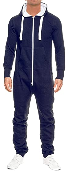 93d2c3936bb7 Amazon.com  New Unisex Adult Hooded Onesie Suit All In One Jumpsuit ...