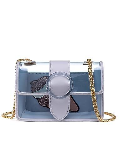 66250e96b297 LA FESTIN Shoulder Bags for Girls Women Small Cute Transparent Side Purse  with Chain