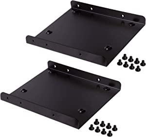 """Silicon Power SSD Mounting Bracket Kit 2.5"""" to 3.5"""" Drive Bay (2 Pack) …"""