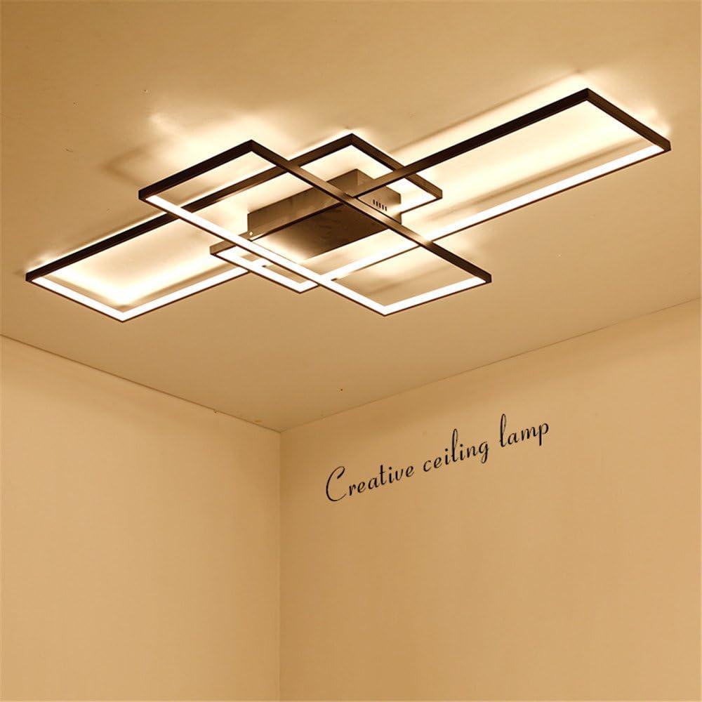Schwarz Rechteck//Quadrat Moderne LED-Decke Lihgts f/ür Wohnzimmer Schlafzimmer K/üche Lichter lampada Schwarz Deckenleuchte Leuchten f/ührte 42x42x6cm 45w k/ühles Wei/ß kein RC