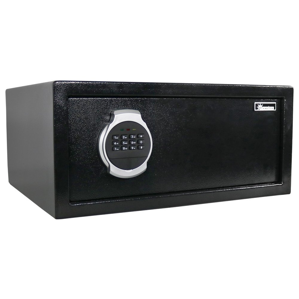 Sunnydaze Steel Digital Home Security Safe with Bolt-Down Hardware and Programmable Lock, 1.19 Cubic Feet by Sunnydaze Decor