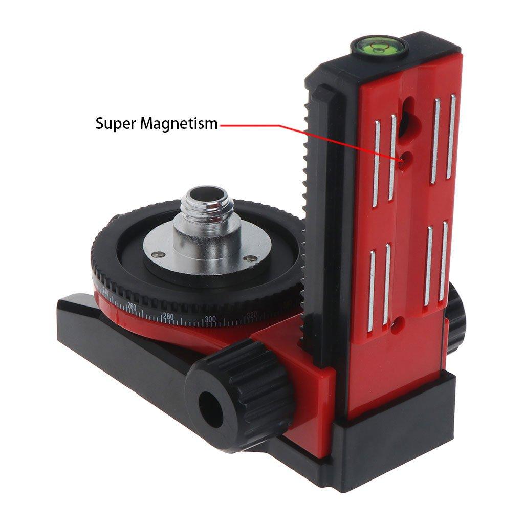 Hukai Level Bracket 5/8'' 360° Fine Super Magnet Pulls L-Bracket Leveling Support by Hukai (Image #4)