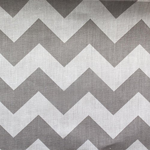 Big Chevron Poly Cotton Grey 60 Inch Fabric By the Yard (F.E.)