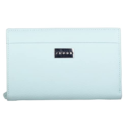 Cross® Women's 100% Genuine Leather Travel Wallet-Sky Blue
