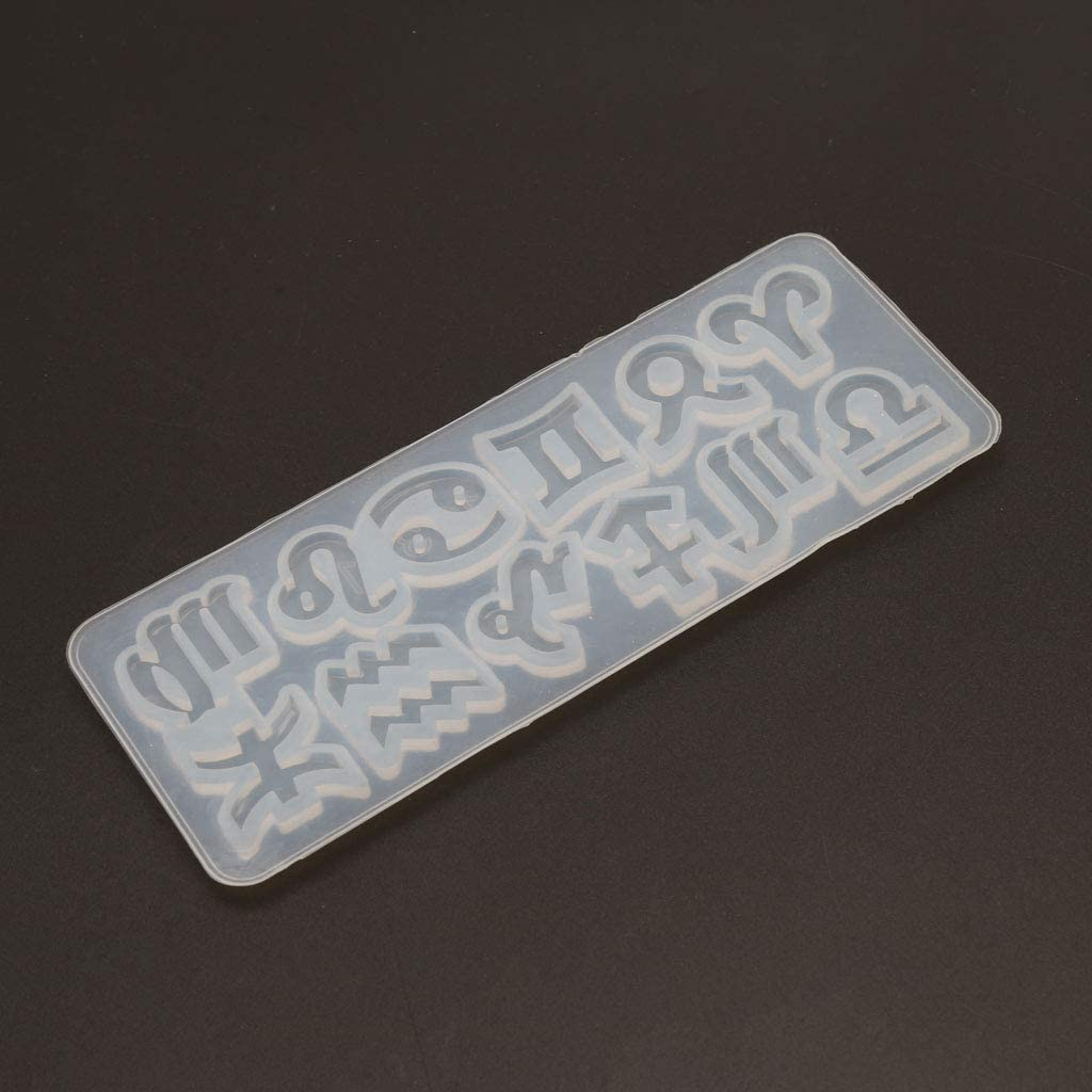 12 Constellations Pendant Silicone Mold Symbol Jewelry Making Tools Art Crafts