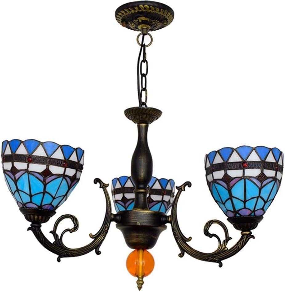 US $178.0  Mediterranean color glass chandelier restaurant bedroom national style romantic romantic chandelier free shipping bar
