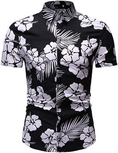 Imprimir Camisa de Flores de Manga Corta para Hombres Camisa de Manga Corta para Hombres con Estampado Floral 20 L: Amazon.es: Ropa y accesorios