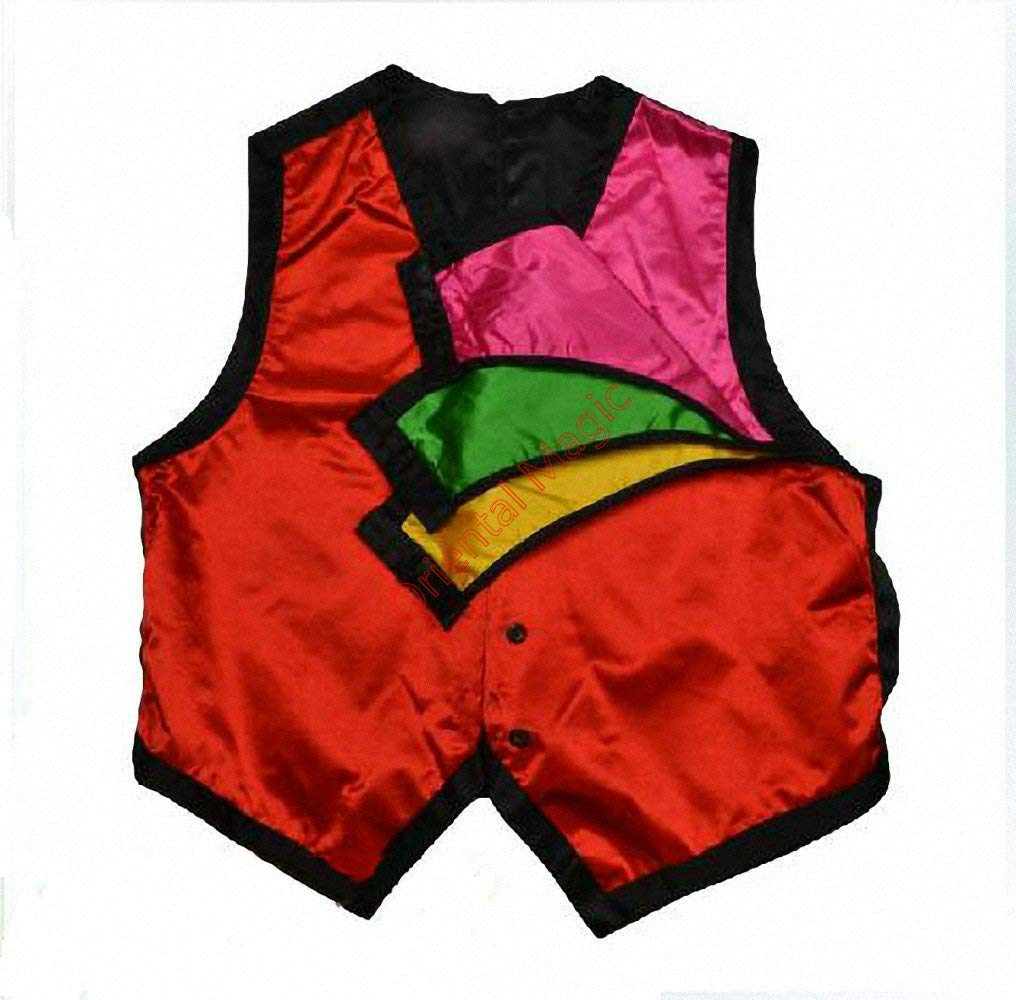 blue-ther Color Changing Vest Waistcoat Four Color Stage Magic Tricks Magician Close-Up Magic Illusions Magic Accessories Mentalism Fun by blue-ther
