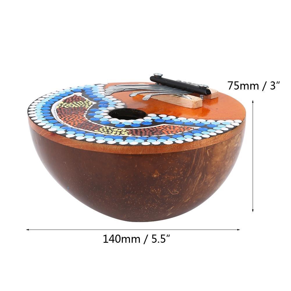 VGEBY 7 Key Kalimba Thumb Piano, Tuneable Coconut Shell Finger Thumb Piano by VGEBY (Image #3)
