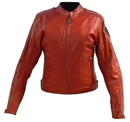 arlen ness Chaqueta de piel roja para mujer Tg.XL: Amazon.es ...