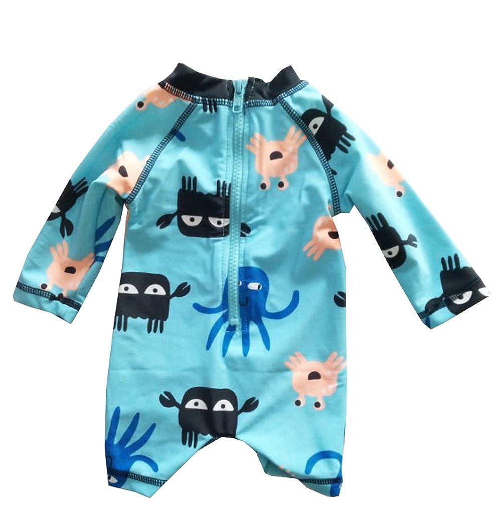 Sun Protection Aqua Infant Baby Boys Sunsuits Rash Guard Swimsuit Swimwear UPF 50