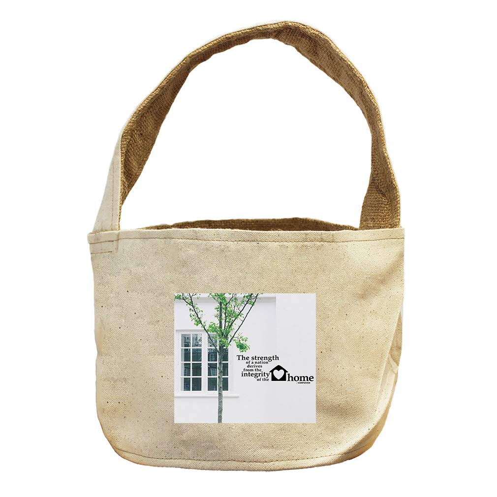 Style in Print of The Home Window with Tree Confucius Canvas and Burlap Storage Basket
