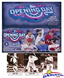 2017 Topps Opening Day MLB Baseball MASSIVE Factory Sealed HOBBY Box with 36 Packs & 252 Cards Plus BONUS (3) BABE RUTH Cards! Includes 1 Insert in EVERY PACK! Look for Autographs & Relics! WOWZZER!