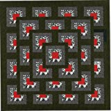 Easy Quilt Kit Boxed Maze!! Red, Black, White/KING/EXPEDITED SHIPPING