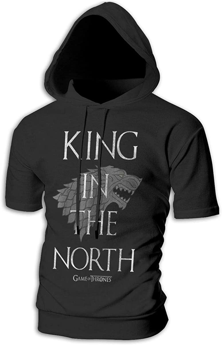 Kinggo Mens with Cap Comfortable King in The North Game of Throne Humor Suits