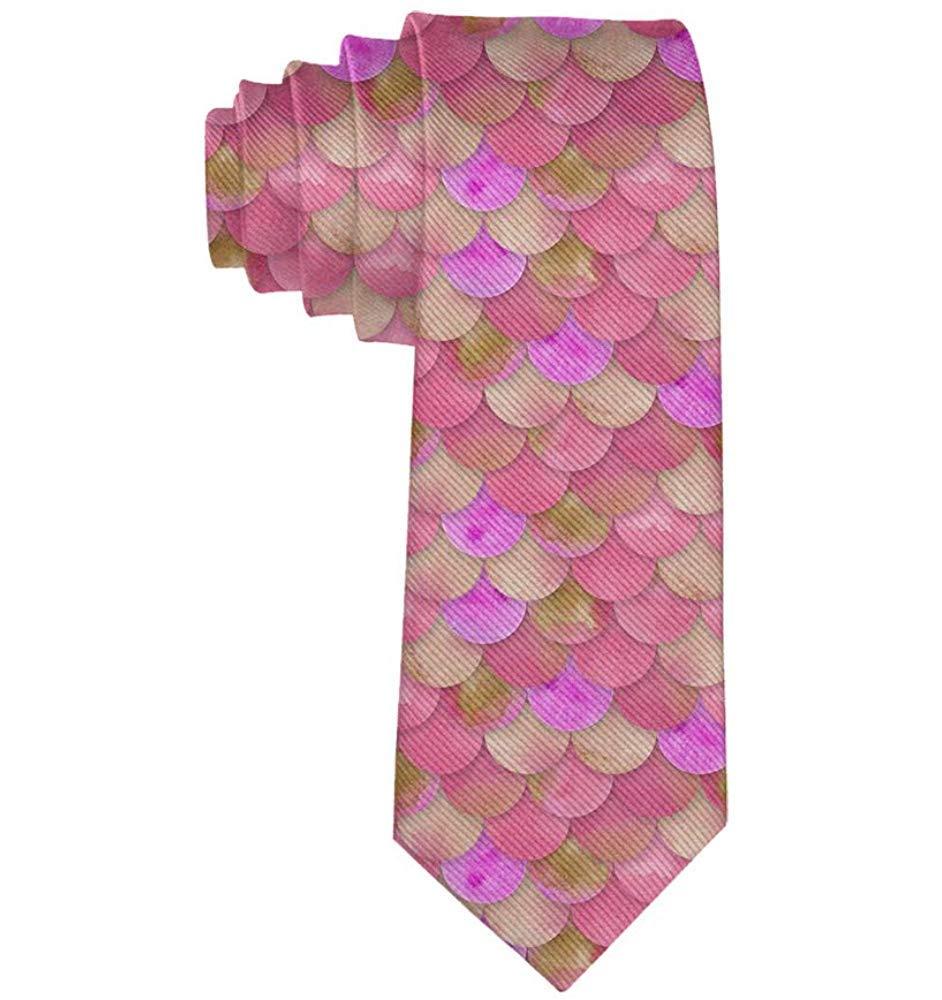 Corbata para hombre Novedad Poliéster Seda suave Suave Rosa Sirena ...