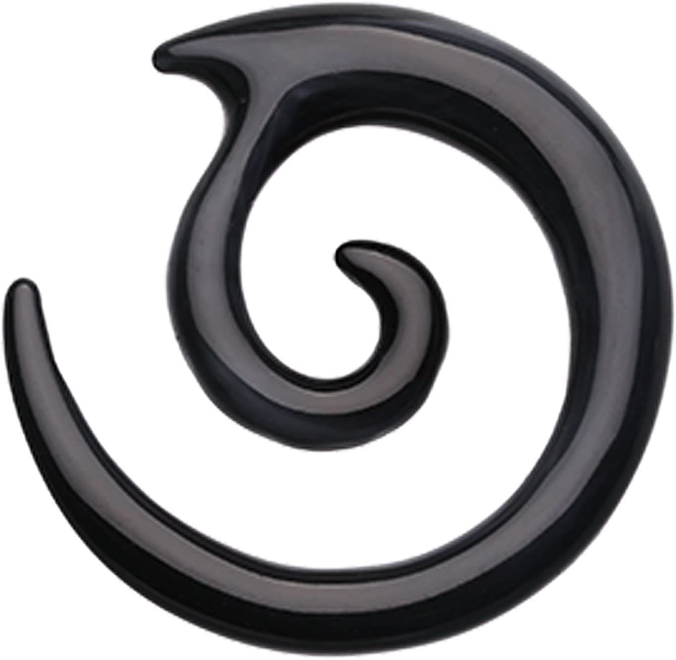 Heartbreaker Acrylic Ear Gauge Hanging Taper Sold as a Pair Black
