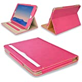 """MOFRED® Pink & Tan Apple iPad Air 2 (Launched Oct. 2014) Leather Case-MOFRED®- Executive Multi Function Leather Standby Case for Apple New iPad Air 2 with Built-in magnet for Sleep & Awake Feature -- Independently Voted by """"The Daily Telegraph"""" as #1 iPad Air 2 Case!"""